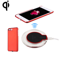 Qi Wireless Charger Charging Base and Qi Receiver Cover Case for iPhone 7/7 Plus