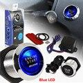 SUV coche Sin Llave de Encendido Del Motor Interruptor De Encendido de Arranque Pulsador de Luz LED Azul 2016 CALIENTE