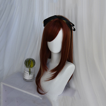 цена на Beautiful Long Straight women Hair Cosplay Wig Synthetic wig Lolita Cosplay Hair Unique Fashion Girl Lolita Wig Cute Hair Party