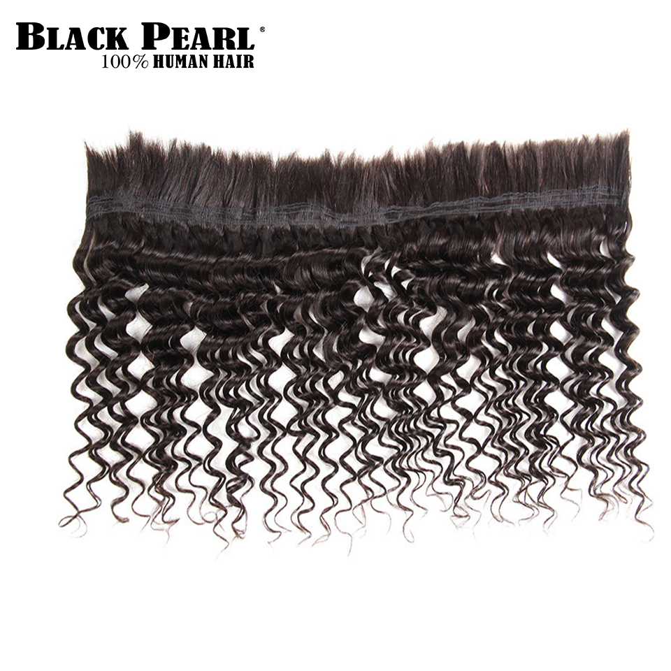 Human Hair Weaves Black Pearl Pre-colored Deep Wave Brazilian Hair Bulk Braiding Hair Extensions 1 Bundle Remy Human Hair Bundles Braids Hair Deal