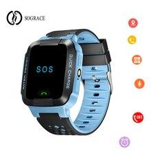 Купить с кэшбэком 2018 Original G21 Kid GPS Smart Watch With Flashlight Baby Watch SOS Call Location Device Tracker Safe Smartwatch SOS Anti-Lost