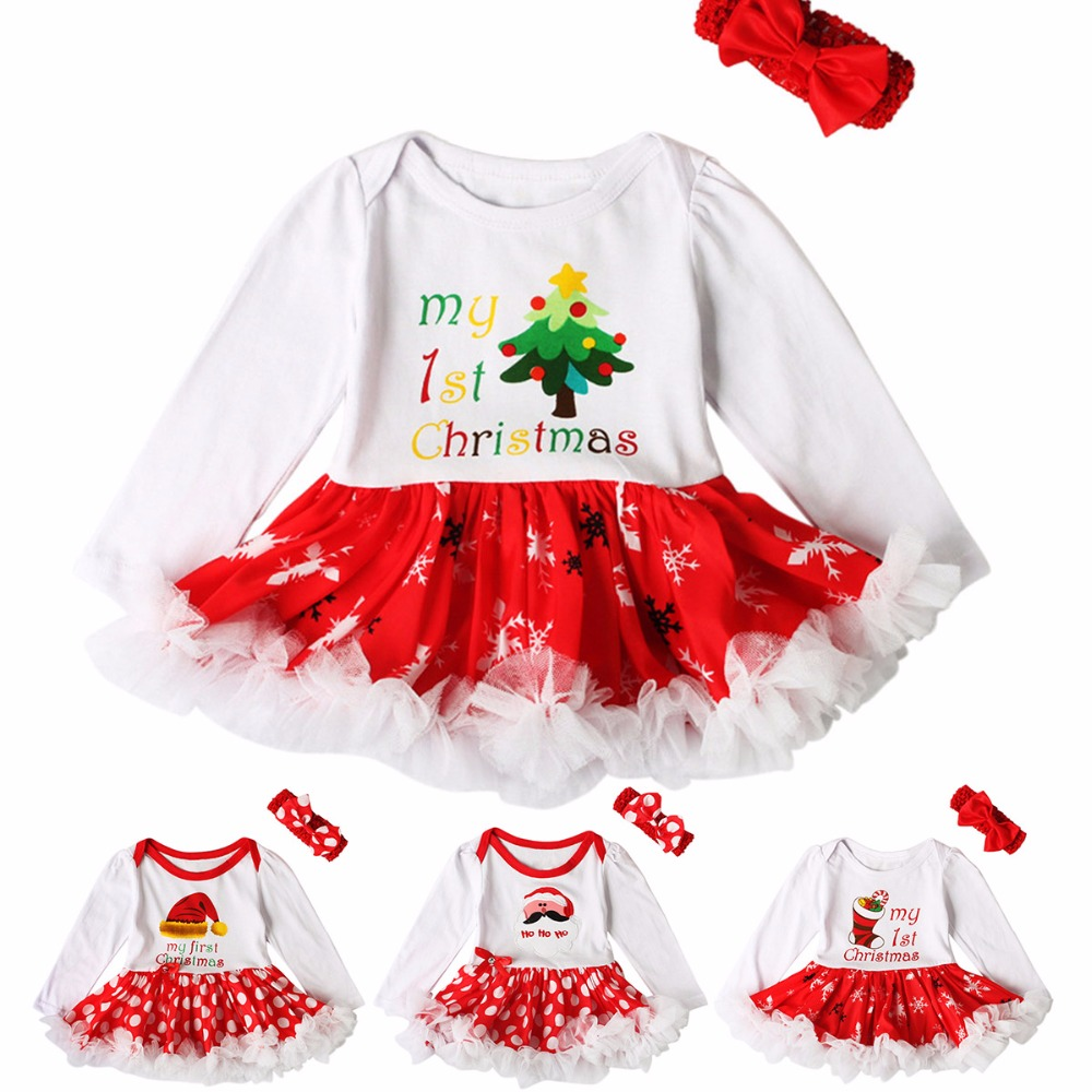 My 1st Christmas Costumes for Kids Children Clothes Newborn Baby Girl Christmas Rompers Dress Jumpsuit Overalls Infant-Clothing christmas costumes infant baby clothing boy girl rompers newborn boys girls romper jumpsuit hat set clothes kids roupas
