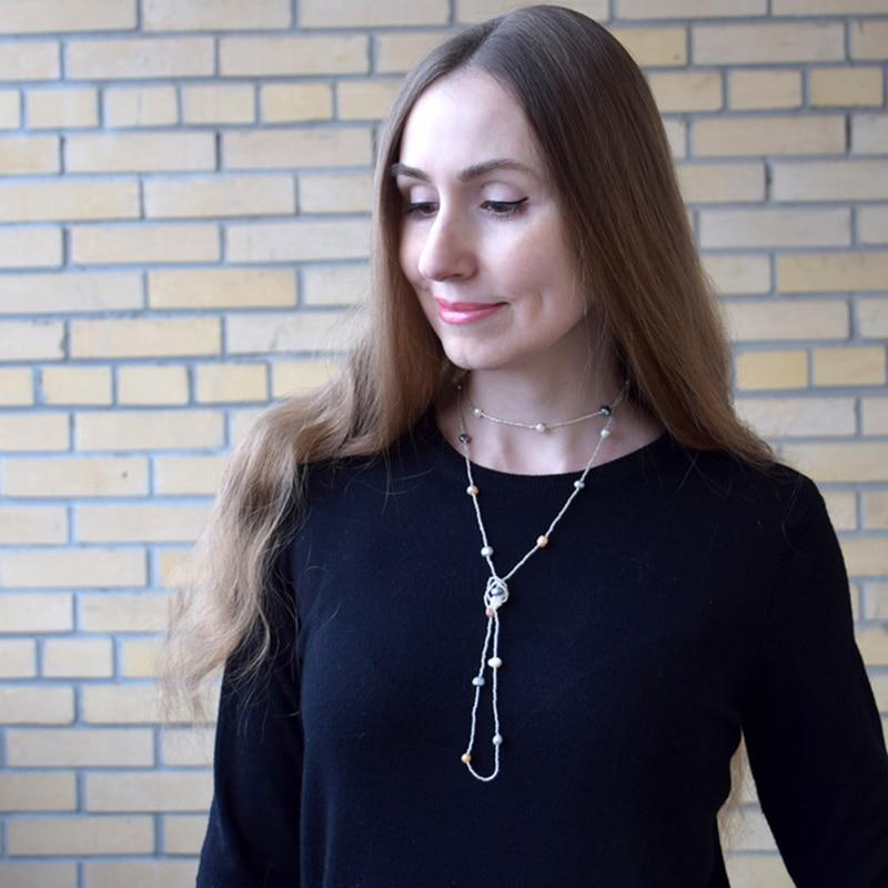 Collar de perlas barrocas de agua dulce natural ASHIQI para mujer, - Joyas - foto 4