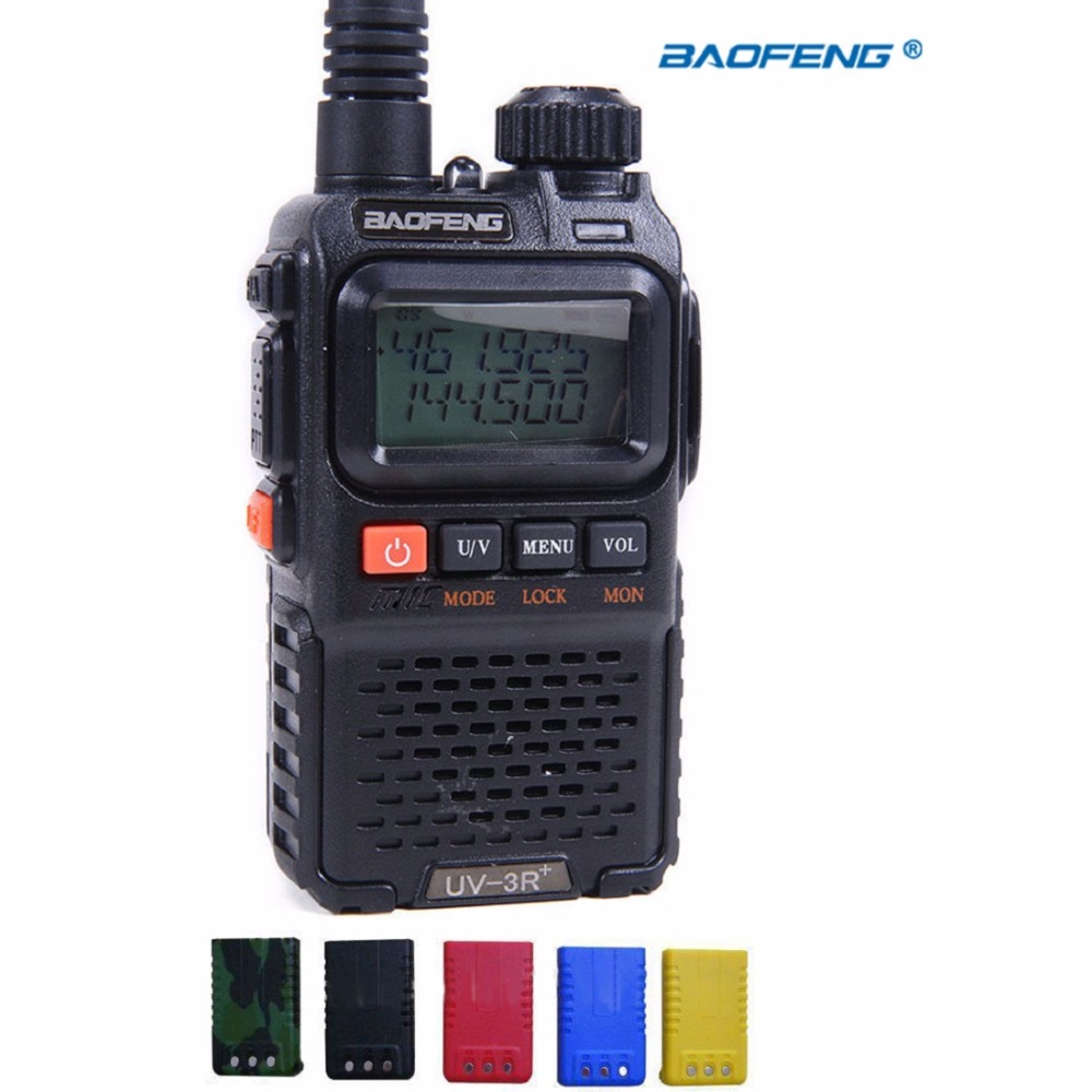 BAOFENG UV-3R+ Plus Walkie Talkie CTCSS Dual Band Frequency Two Way Radio Ham Mini Walkie Talkie Probtal Interphone Colors For