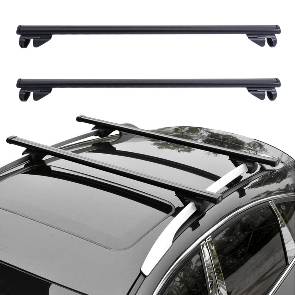 Universal Car Roof Rack Cross Bars Vehicle Cargo Luggage Carrier Auto Roof Rails With Anti-theft Lock Easy Fit 124CM sticker