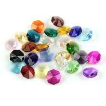 2000/lot 14mm Colorful Crystal Glass Beads In 1 Hole For  Crystal Chandelier Parts Home Decoration free shipping top quality customized crystal glass beads garland strands diy crystal curtain for home decoration 22 1 2m lot