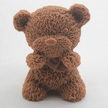 Силиконовые Mold Медведь Форма Мыло ручной работы свечи плесень формы торт шоколадный фондан Выпечка Плесень DIY Инструменты