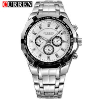Relojes Hombre 2016 New CURREN Watches Full Steel Waterproof Mens Wristwatch Fashion Quartz Watch Military Sport