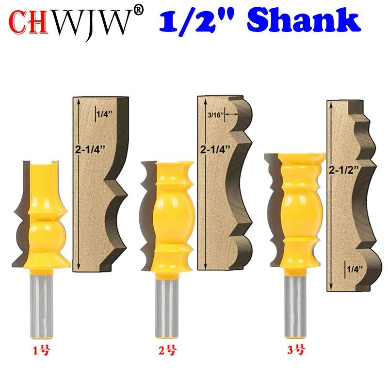 3 Pc. Crown Molding Router Bit Set-1/2