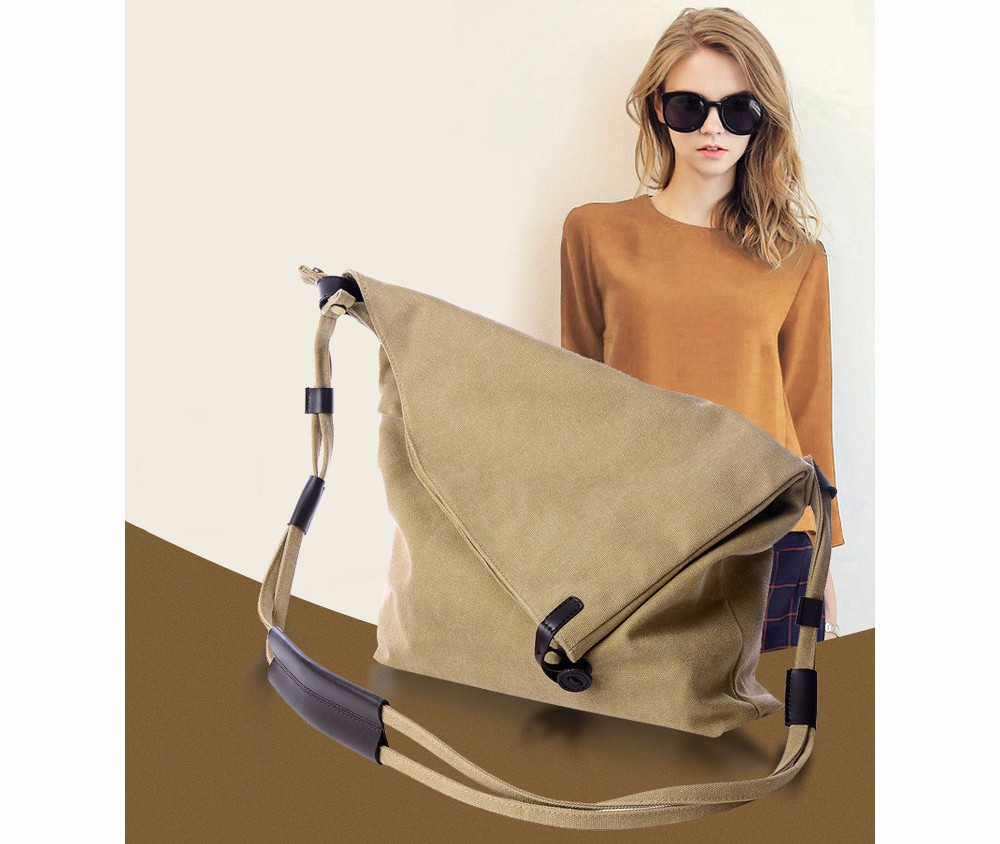 Vintage Canvas Shoulder Bag European And American Style Casual Unisex Handbag Men Women Retro Large Capacity Messenger Bags TTOU (1)