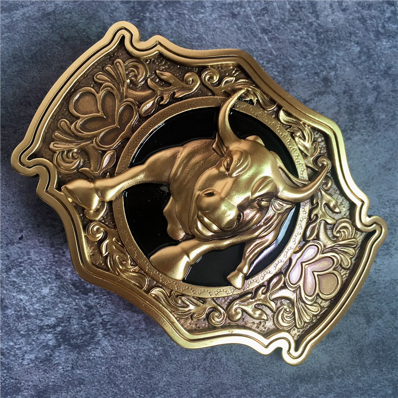 Chinese Style Brass Bull Belt Buckle For Man Belt High Quality Classical Leather Man Belt Buckle BK0090