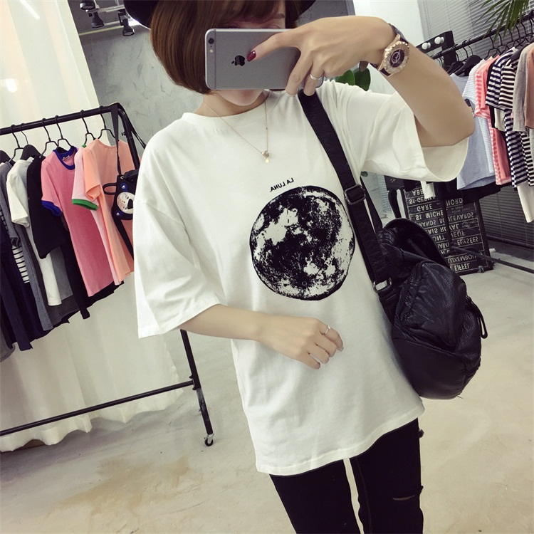 HTB1n3S9PFXXXXbMXpXXq6xXFXXXA - Summer Planet Earth Printed Loose Short Sleeve T Shirts