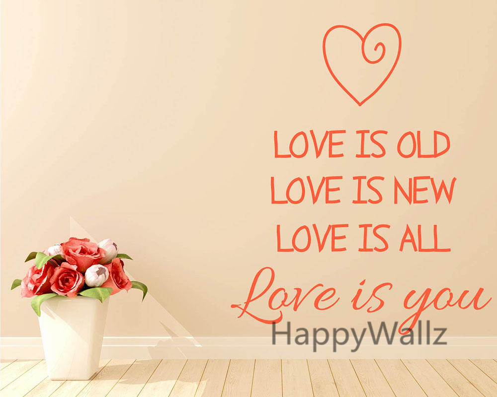 popular custom quote wall decal buy cheap custom quote wall decal love quote wall sticker love is old new all love is you quotes vinyl lovers quotes