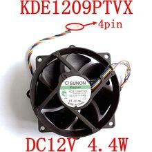 Gratis verzending originele en nieuwe kde1209ptvx 4pin 12 v 4.4 w 90x90x25mm voor sunon pwm maglev koelventilator