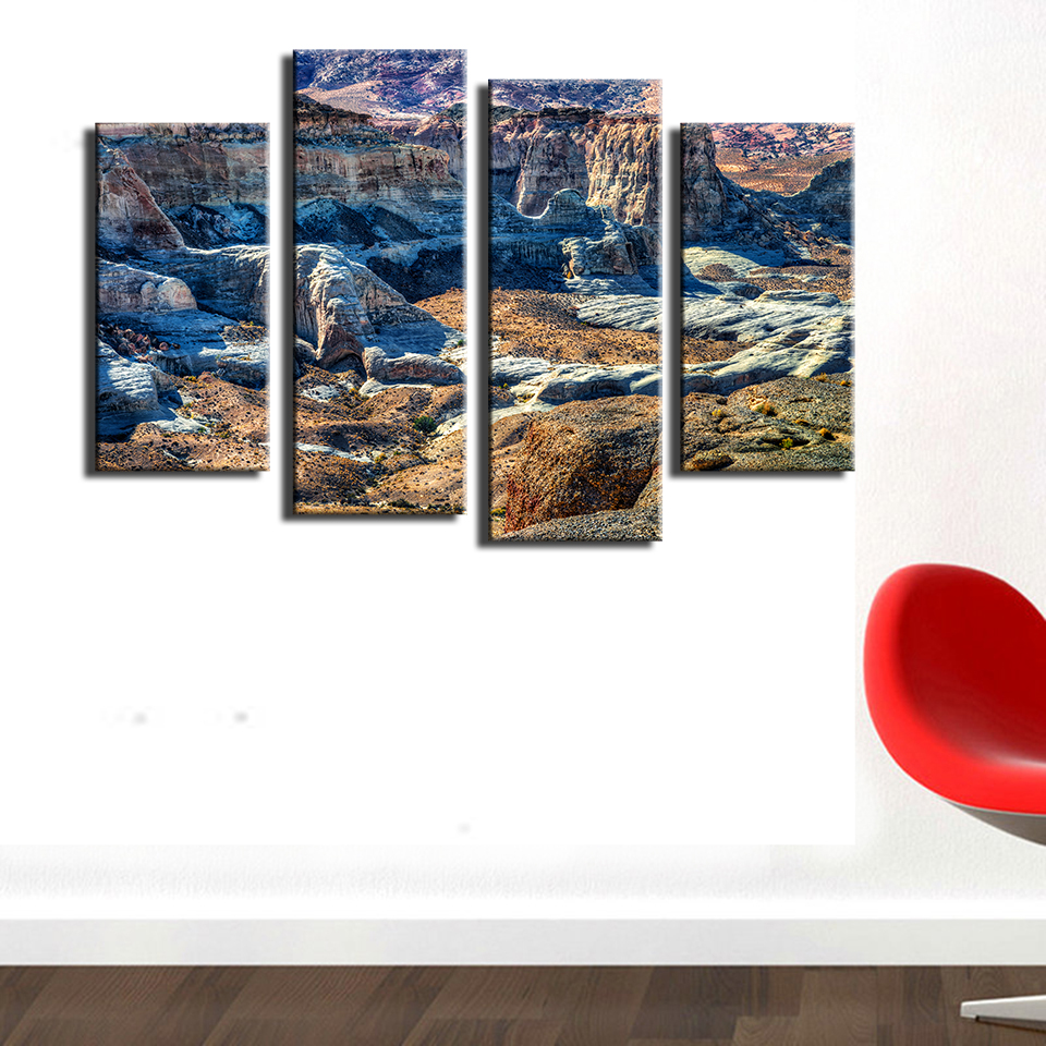 Home Decor Stores Utah: 4pcs Stud Horse Point Utah Wall Painting Print On Canvas
