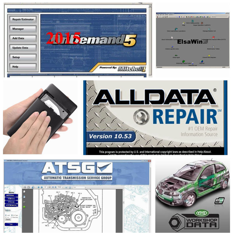 2019 All data Auto Repair Software 10.53 Alldata and mitchell on demand software atsg elsawin vivid workshop in <font><b>1tb</b></font> <font><b>hdd</b></font> usb image