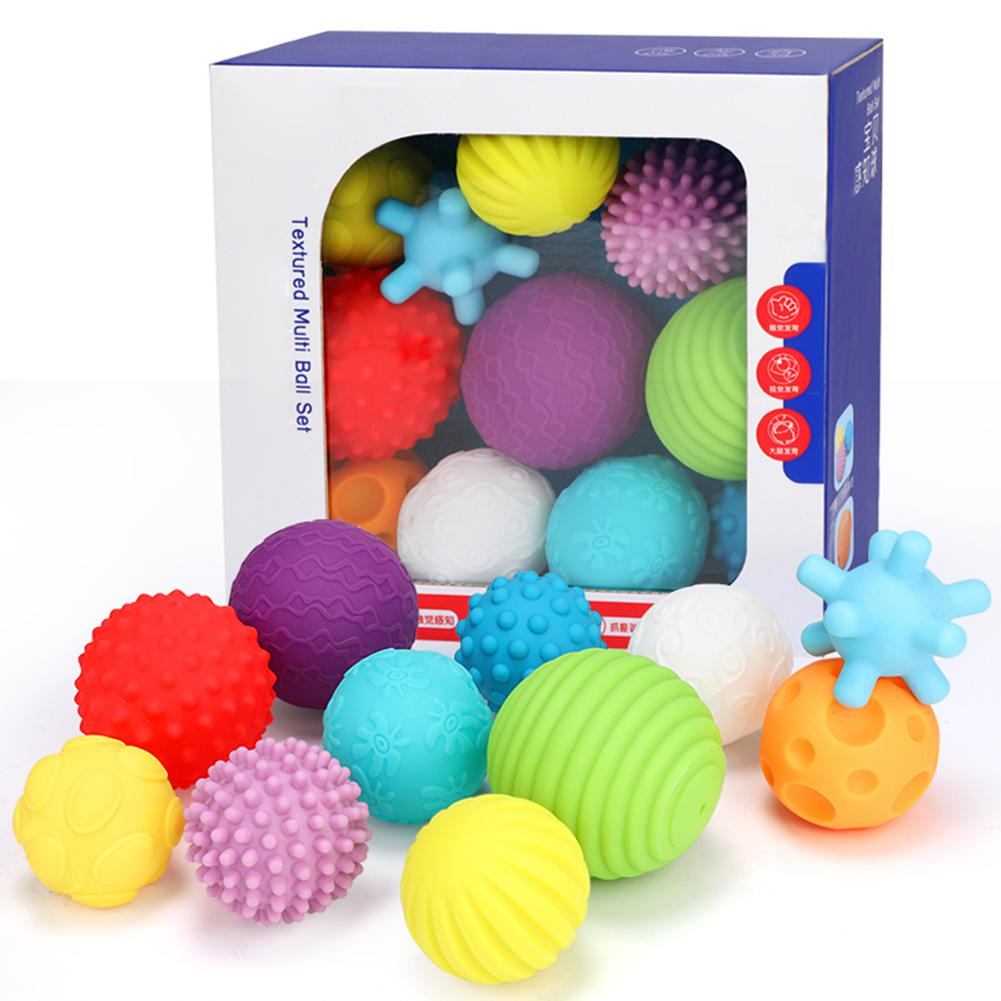 Baby Toy Hand Catch Ball Touch Massage Soft Ball Color Bouncy Ball Children Novelty Outdoor Indoor Toy Ball For Kids