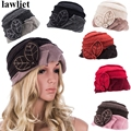 A375 2016 Fashion Floral Winter Beret Hats for Beanie Women  Cloche Bucket Hat Female Skullies Hat