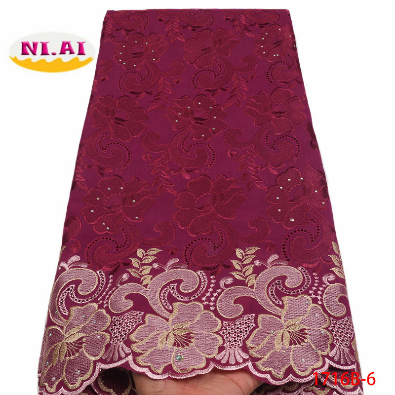 Image 5 - 2018 High Quality African Swiss Voile Lace Fabric With Stones Soft Embroidery Dry Voile Lace Materials In Switzerland XY1716B 1-in Lace from Home & Garden