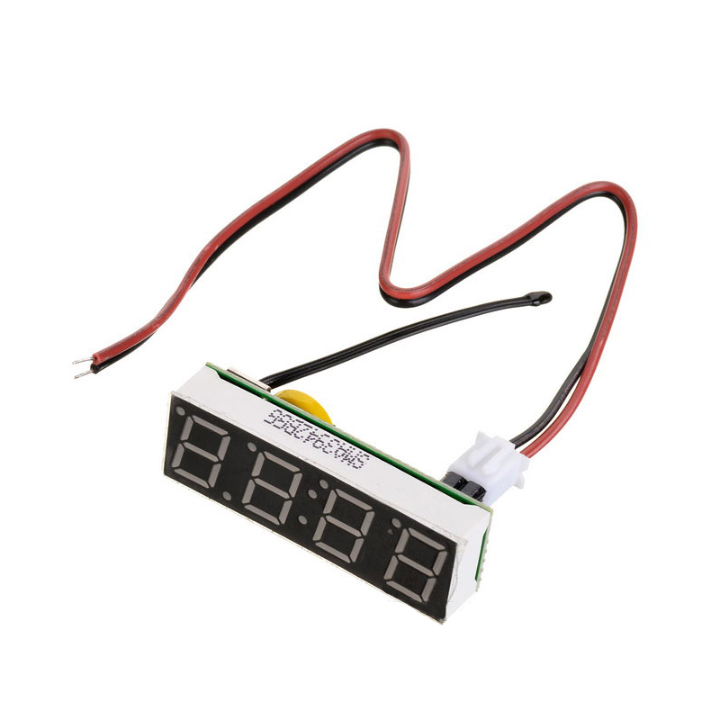 a698489b970 Temperatura Termômetro Relógio carro Relógio Elétrico Timer Digital LEVOU  Voltímetro Display LED Relógio Digital de Luz Azul Verde Vermelho em de no  ...