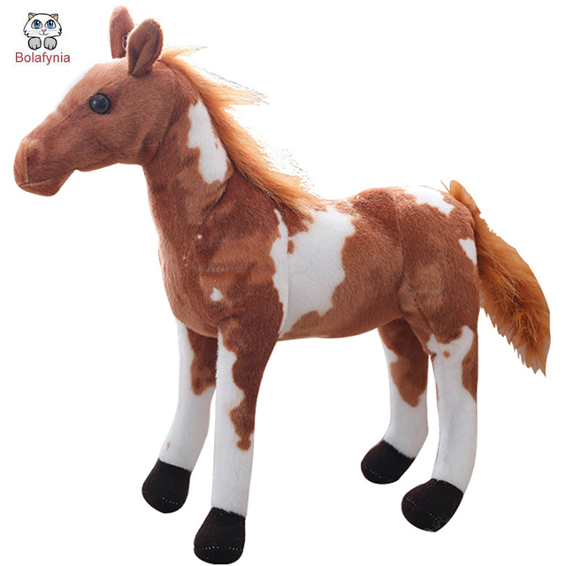 BOLAFYNIA Children plush stuffed toy Horse simulation four kinds baby kids Christmas birthday toy gift