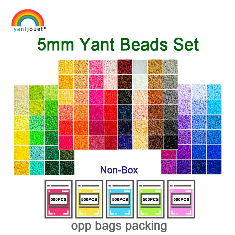 Yantjouet 5mm Yant Beads Kit 24 48 72color/set For Kid Hama Bead Diy Puzzles High Quality Handmade Gift Children Toy