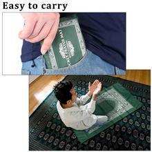 Alfombra portátil de 100x60cm para rezar con brújula, alfombrilla de poliéster para amasar, alfombra o tapete de oración, impermeable, con bolsa