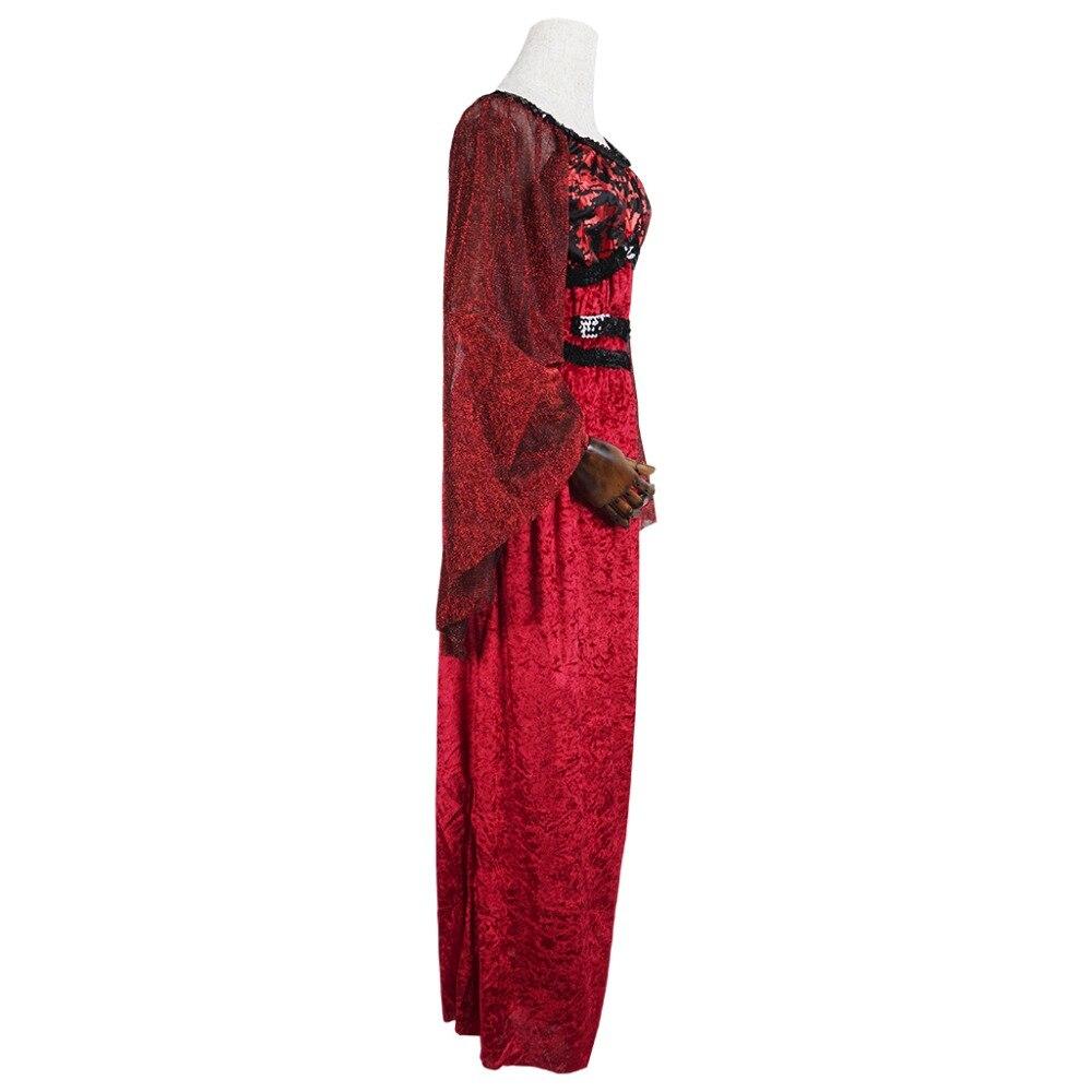 İntibah Donu Vampir Kostyumu Qadın Gothic Cadu Kraliçası Qadın - Karnaval kostyumlar - Fotoqrafiya 3