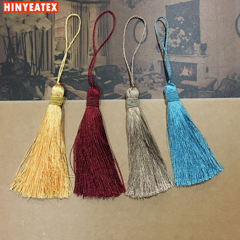 Free Shipping 4 colors Small Simple Tassel Curtain Cushion Table Runner Door Decorative Accessories 21 cm Length Sell by bale