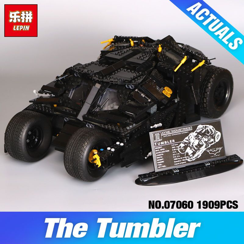 LEPIN 07060 Super Hero Movie Series The Tumbler Batman Armored Chariot Set 76023 Building Block Bricks Toys DIY Birthday Gifts зарядное устройство others 2600mah powerbank 18650 usb