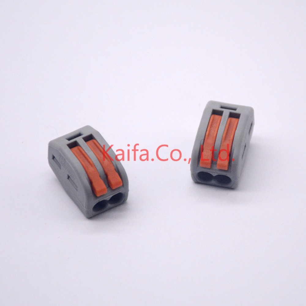 10 pcs 222-412/222-413 5pcs 222-415 Compact Wire Wiring Connector 2 pin Conductor Terminal Block  With Lever 0.08-2.5mm2