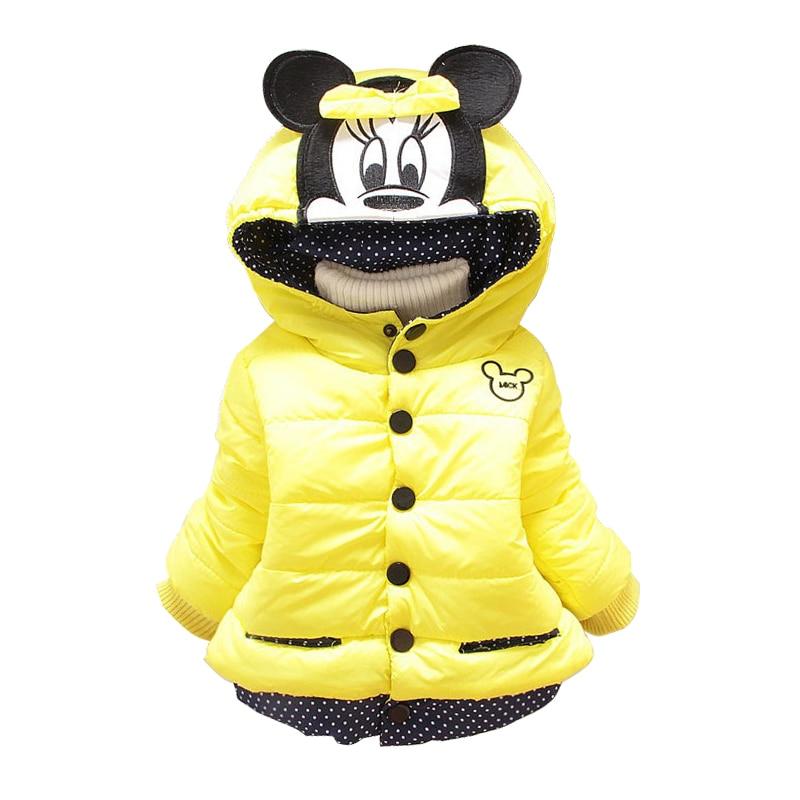 1-4 Jahre Mädchen Jacke Halten Warme Kinder Kleidung Winter Minnie Mäntel Für Mädchen Schöne Baby Mädchen Kleidung Kinder Kleidung