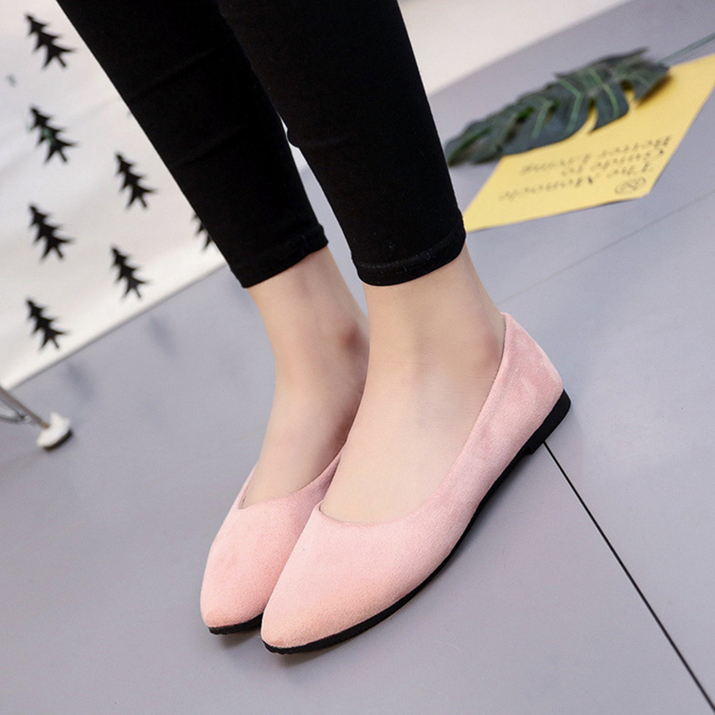 Plus Size Spring Summer Flock Women Flats Shoes Female Pointed Toe Casual Shoes Solid Lady Slip On Loafers Shoes beyarne spring summer women moccasins slip on women flats vintage shoes large size womens shoes flat pointed toe ladies shoes