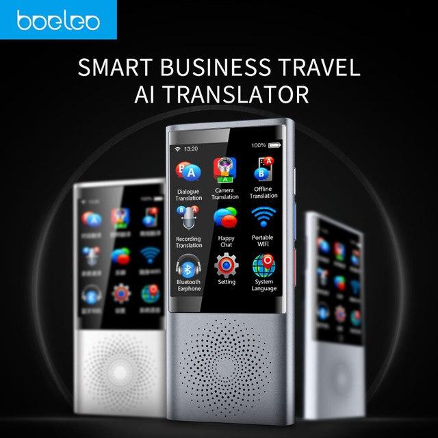 Boeleo W1 AI traductor inteligente de pantalla táctil traductor 45 Multi-idioma mundial de viajes de negocios y traducción