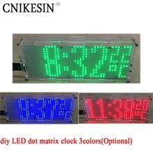 CNIKESIN diy СВЕТОДИОДНЫЕ матричные часы чип сварки практика 51 MCU с контролируемой температурой diy цифровые часы 3 цветов (дополнительно