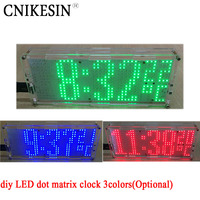 CNIKESIN Diy LED Dot Matrix Clock Chip Welding Practice 51 MCU With Temperature Controlled Electronic Parts