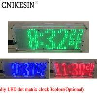Cnikesin DIY LED dot matrix reloj chip soldadura práctica 51 MCU con temperatura controlada reloj digital DIY 3 colores (opcional