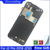 LCD with frame For Samsung Galaxy J2 Pro 2018 J250 J250F SM J250F/DS LCD Display Touch Screen Digitizer Brightness Adjustable