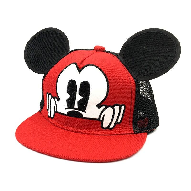 Hot Mickey ear hats children snapback Caps baseball Cap with ears Funny Hats spring summer Autumn hip hop boy hats Mesh caps