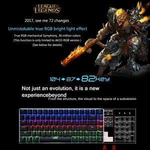 Image 4 - AJAZZ AK33 klawiatura mechaniczna klawiatury do gier LED RGB 82 klawisze niebieski/czarny przełączniki Anti Ghosting dla PUBG LOL DOTA 2 cometer