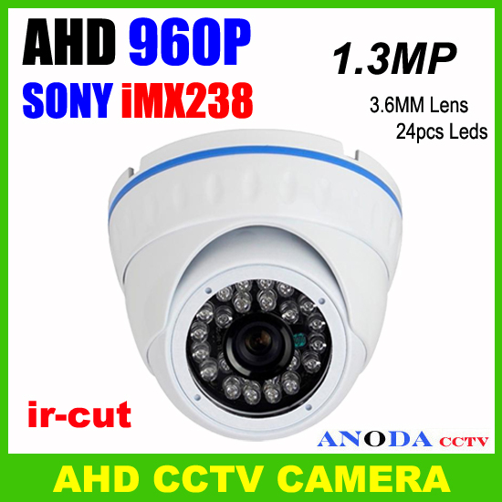 Metal Cover Surveillance System Home Security Small Dome Camera Ahd 960p Support Osd With Ir