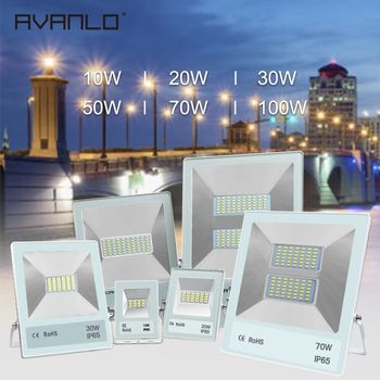 LED Flood Light Outdoor Lampu Sorot 10 W 20 W 30 W 50 W Lampu Wall Washer Reflektor IP65 Tahan Air taman 220V100W Pencahayaan