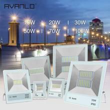 Led Flood Light Outdoor Spotlight Floodlight 10W 20W 30W 50W Wall Washer Lamp Reflector IP65 Waterproof Garden 220V100W Lighting