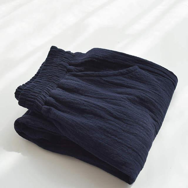 Retro Cotton Linen Trousers Women Spring Summer Casual Elastic Waist Straight Women Pants Pantalon Femme Long Sweatpants C5286 6
