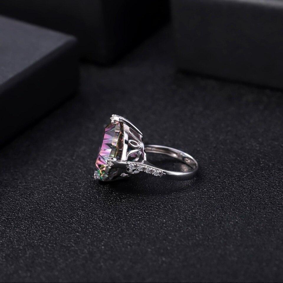 MYSTIC QUARTZ Gemstone Tiny Cute Ring Choose All Size 925 Sterling Silver