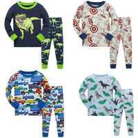 2019 kinder Herbst Pyjamas kleidung Set Jungen Cartoon Dinosaurier Nachtwäsche Anzug Set kinder lange ärmeln + hose 2- stück baby kleidung