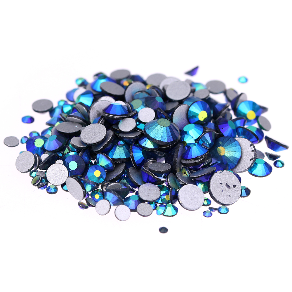 Montana AB Non Hotfix Crystal Rhinestones SS3-SS30 And Mixed Sizes Glue On Strass Diamond DIY Jewelry Making Nails Art Supplies crystal hotfix diy rhinestones for nails ss6 ss30 and mixed smoked topaz strass nail art glass stone glitter decoration design