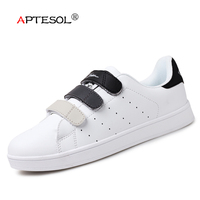 APTESOL Fashion Men PU Vulcanize Shoes Couple Unisex Non slip Massage Casual Shoes Men's Breathable Sneakers Zapatos De Hombre