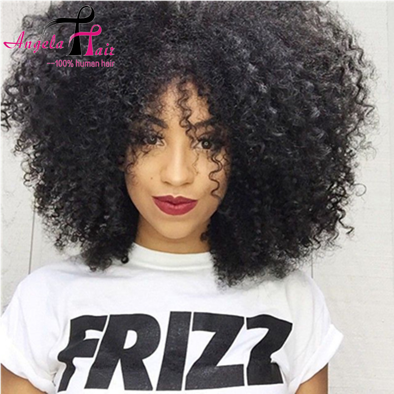 Swell Aliexpress Com Buy Peruvian Virgin Afro Kinky Wig Short Curly Hairstyles For Women Draintrainus