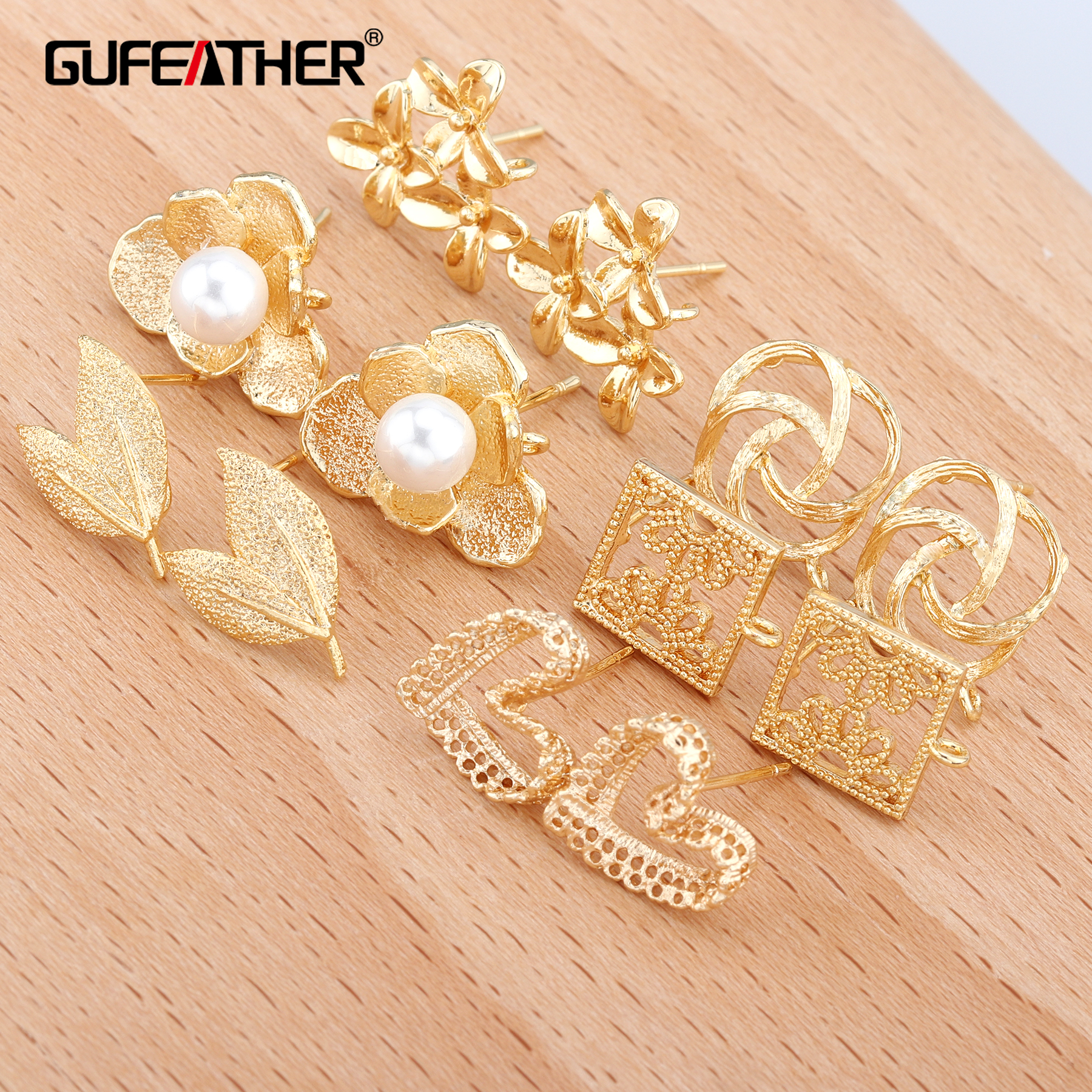 GUFEATHER M322,jewelry Accessories,jewelry Findings,accessory Parts,18k Gold,diy Earrings,hand Made,stud Earrings,jewelry Making